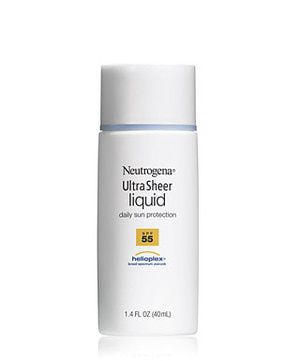 Top 10 mejores protectores solares para el rostro: Neutrogena Ultra Sheer Liquid Daily Sun Protection SPF 55