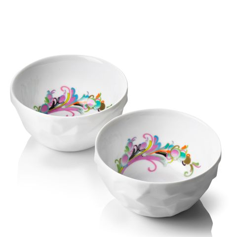 The #set includes two #bowls, perfectly suitable for applications in which a small portion of #soup, morning cereal with milk, #yogurt with #fruit and granola cereal. #kitchenaccessories #decosalon #menu #scandinaviandesign