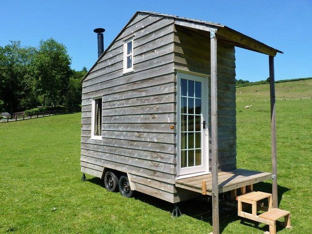 SHEPHERDS HUT Garden Shed Insulated with Wood Burner For Sale in Llanidloes, Powys