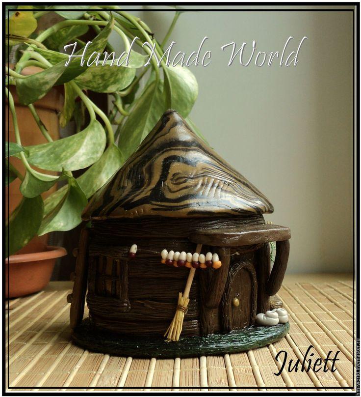 """Купить Шкатулка """"Домик"""" - коричневый, шкатулка, шкатулка для украшений, шкатулка ручной работы, шкатулка для мелочей"""