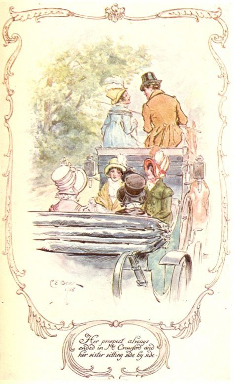 Her prospect always ended in Mr. Crawford and her sister sitting side by side - Mansfield Park -Jane Austen /CE Brock