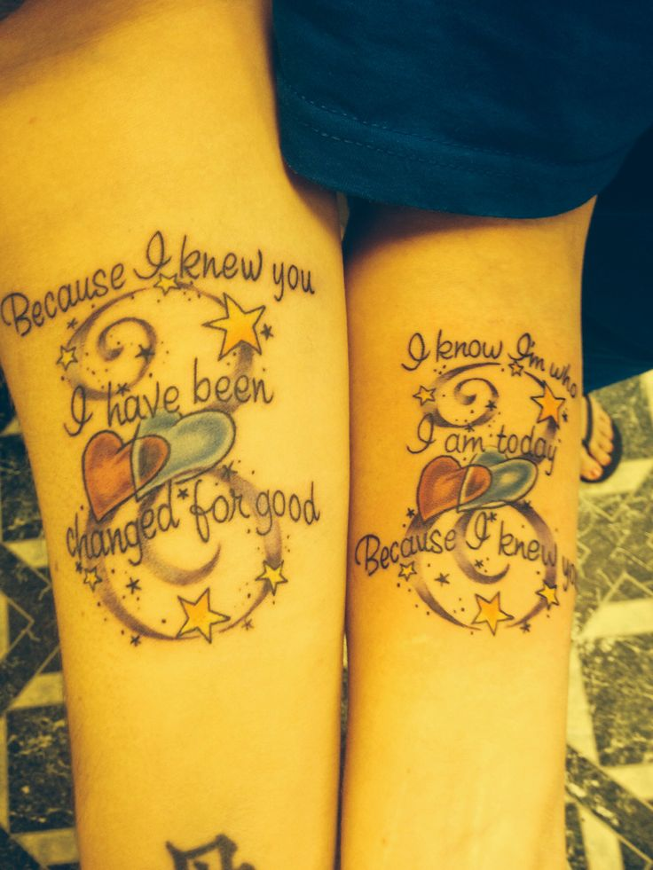 Best friend tattoo! Wicked quote!