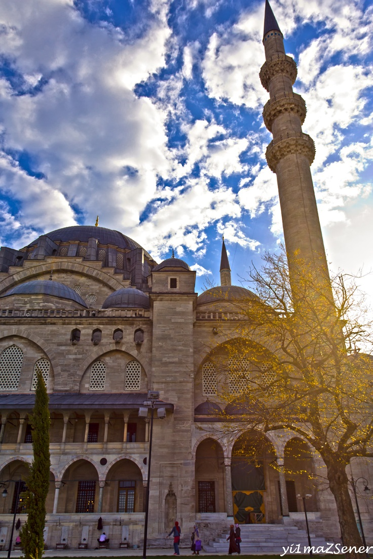 suleymaniye mosque (2nd largest mosque ordered by suleiman the magnificient and designed by mimar sinan)