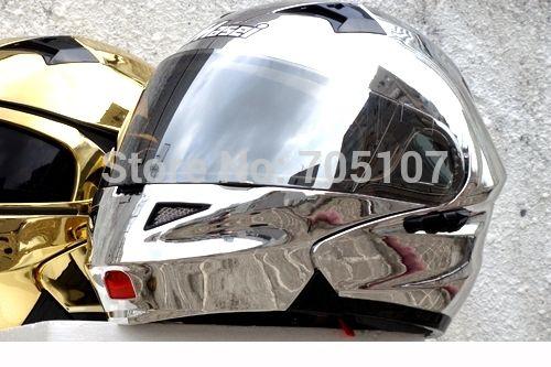 Encontrar Más Cascos Información acerca de Masei 815 Silver cromo Modular Flip Up casco de la motocicleta envío gratis, alta calidad casco de la motocicleta walkie talkie, China casco de la motocicleta auricular de radio Proveedores, barato orejera del casco de Excom Technology CO.,Limited en Aliexpress.com