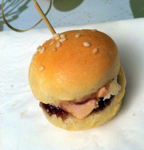 Mini burgers au foie gras et confit de figues