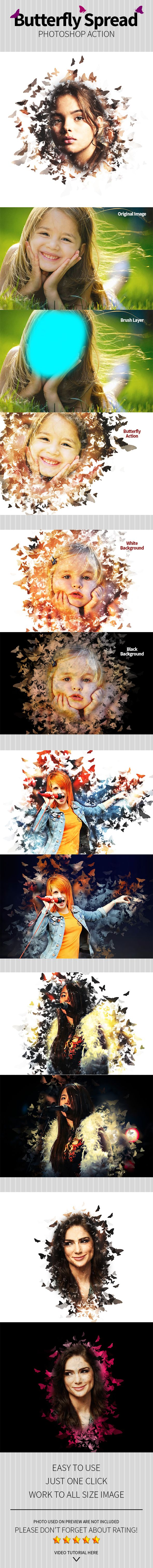 Butterfly Spread Photoshop Action. Download here: http://graphicriver.net/item/butterfly-spread-photoshop-action/14688874?ref=ksioks