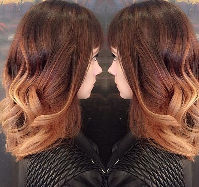 Beautiful red and strawberry blonde ombre! Love it
