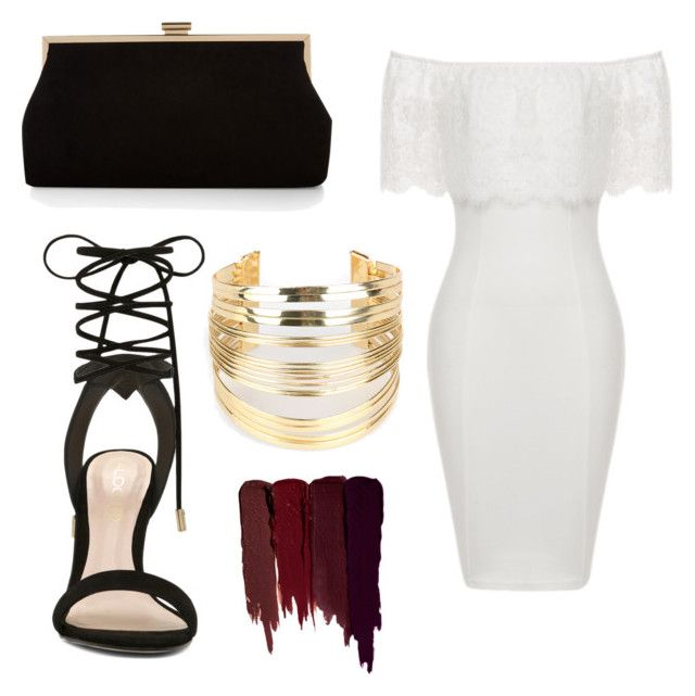 """White dress black gold chic"" by abeer111 on Polyvore featuring ALDO, Monsoon, WithChic and Serge Lutens"