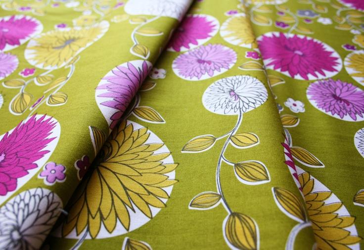 Anthology Fabrics High Society Victoria PR195 Moss Green