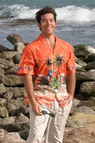 Гавайская рубашка для украшения бутылок
