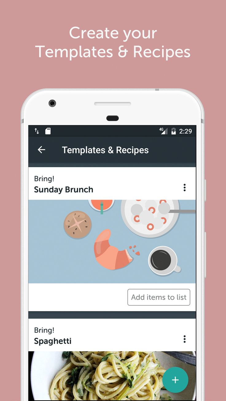 Create your shopping list templates and import your favorite recipes withe the Import Button.