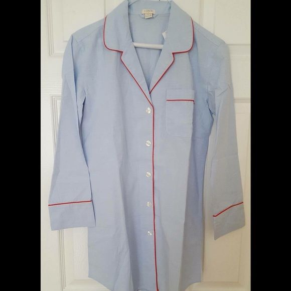 J. Crew Sleep Shirt Cotton sleep shirt. Too cute you can wear for outside with jeans. Just tuck it in and wear with white sneakers. J. Crew Intimates & Sleepwear Pajamas