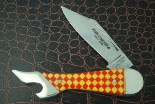 WINCHESTER-TRADE-MARK-LONG-PULL-CHECKBOARD-LADIES-LEG-KNIFE-1970-039-s
