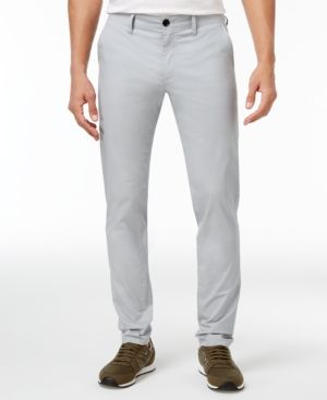 Armani Exchange Men's Chino Trouser Pants - Gray 33x30