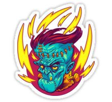 Sticker   Halloween   Frankenstein   Monster   gruselig   Design