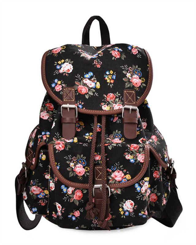 Lightweight Backpack for Teen Young Girls Cute Backpack Print Rucksack