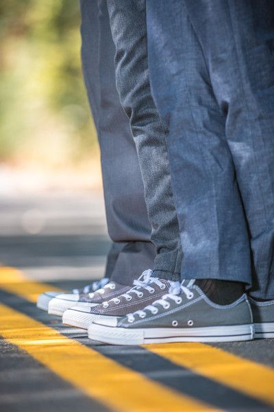 How awesome are the groom's and groomsmen's shoes? #converse {Adrian Tamblin Photography}