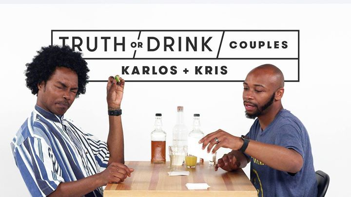 """He got on the stripper pole and then I called my friend and said 'I'm going to marry this person.'"" Watch this couples edition of Truth or Drink!"