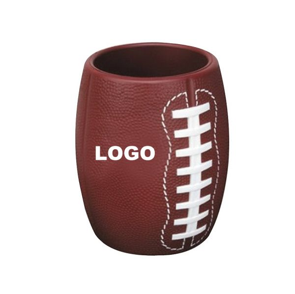 This Football shape foam Can Holder is a very unique promotional item and can be thrown like a real fotball. Available in custom colors. #footballpromoitem #corporatefootballideas #Footballcancooler