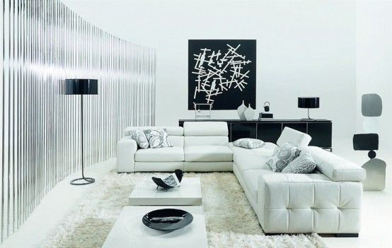 Pure White Living Room Furniture | Covet Edition | #livingroom #furniture #whiteandblack | See more at www.covetedition.com
