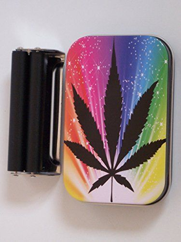 1oz Hinged Herb Herbal Jamaican Leaf Baccy Tobacco Tin Rolling Machine & Papers  //Price: $ & FREE Shipping //     #Bathroom