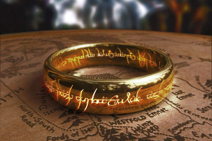 The ring from the lord of the rings - one ring to rule them all etc. so evil. hehehehe.
