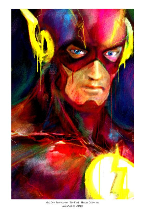 The+Flash+Art+Panel+Archival+Quality+11x17+Art+Print+by+j2artist
