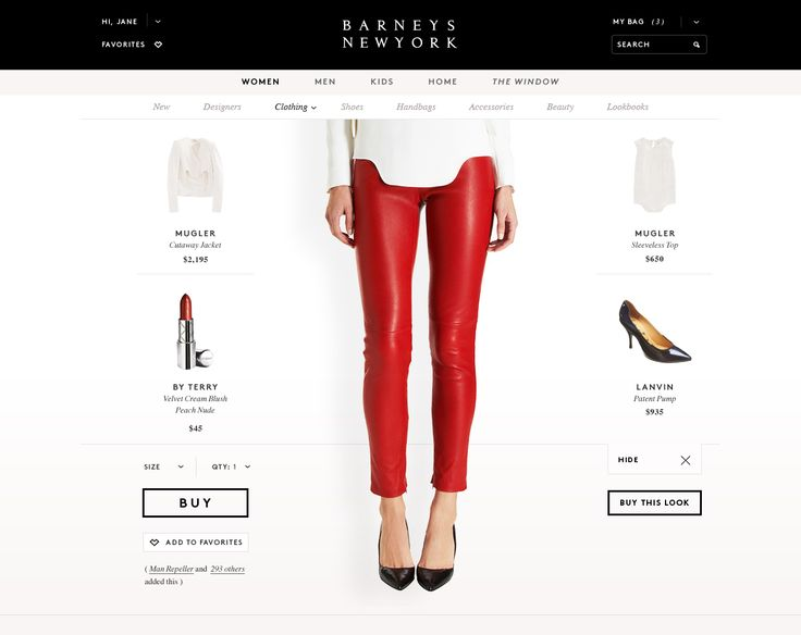 Barneys New York partnered with Huge to bring the Barneys shopping experience to life online, with personalized experiences and curated product selections.