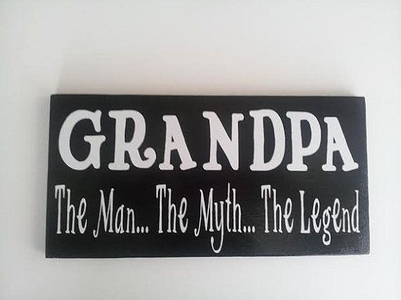 ON SALE NOW Grandpa The Man The Myth The by ForeverYoursCreation