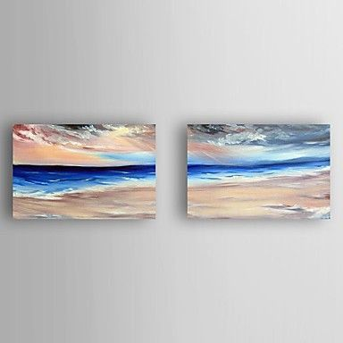 Oil Painting Landscape set of 2 Hand Painted Canvas with Stretched Framed Ready to Hang 5502251 2017 – $87.54