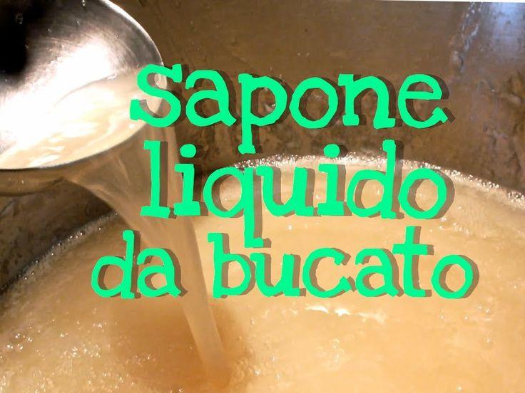SAPONE DETERSIVO LIQUIDO DA BUCATO FATTO IN CASA - Homemade Liquid Laund...