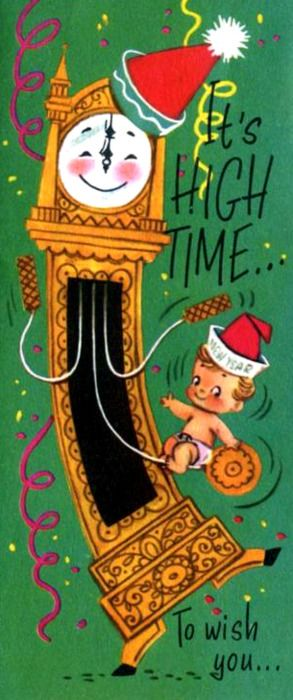 vintage New Year card...
