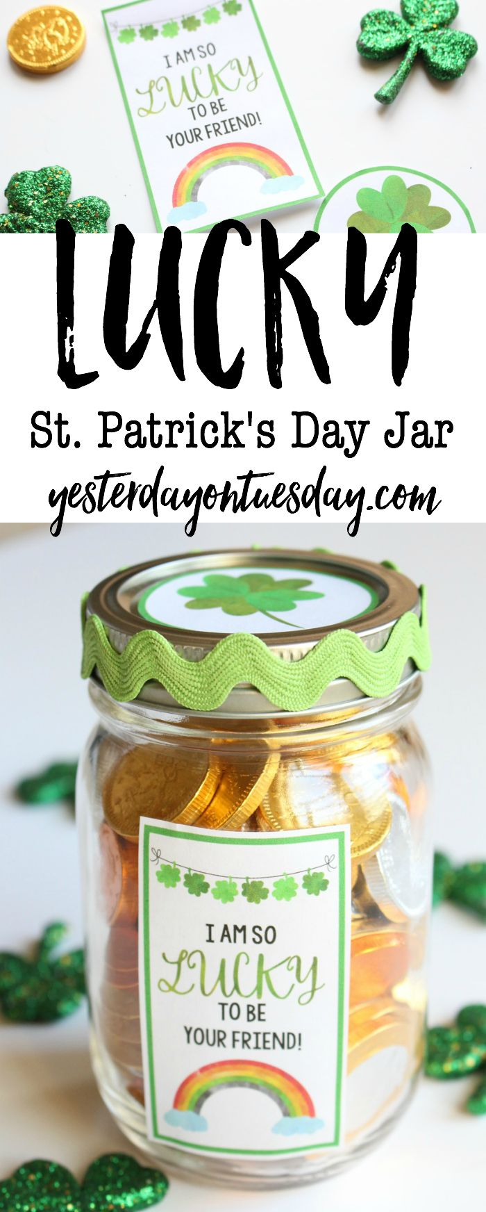 Lucky St. Patrick's Day Mason Jar