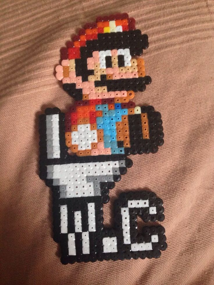 Mario WC sign hama beads - Marine Pixel Art Créations