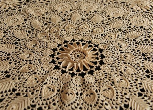 Lace from Koniakow with convex flower (78 cm) - My Poland