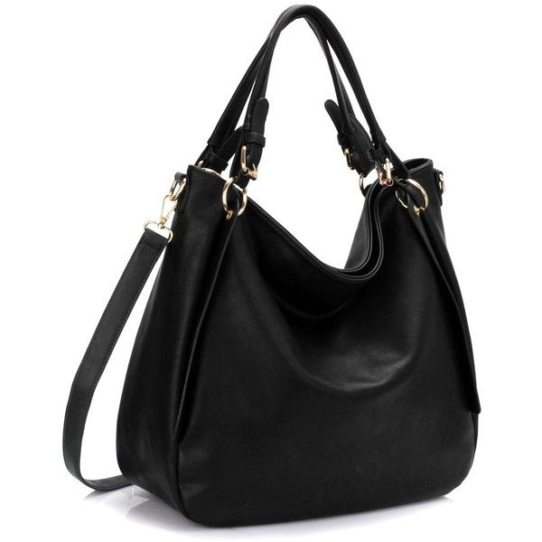 FC Vegan Bags New Vegan Hobo Style Shoulder Bag ($47) ❤ liked on Polyvore featuring bags, handbags, shoulder bags, vegan purses, shoulder strap handbags, long strap purse, vegan handbags and zip purse