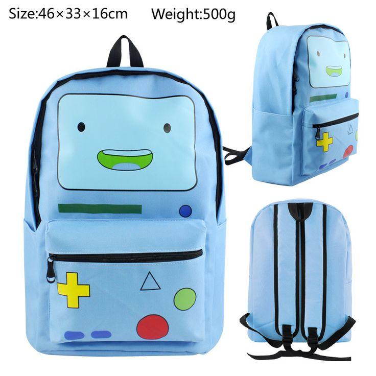 Blue Adventure Time Finn Backpack Bag Knapsack Packsack School Students BoyS Girls Shoulder Bags Cosplay