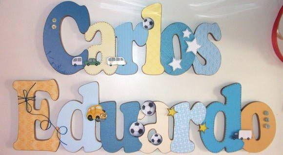 Nome em MDF, decorado em papel de scrap. Pode ser utilizado para decorar quarto, porta de maternidade e festa infantil. Fazemos nas cores desejadas R$ 147,00
