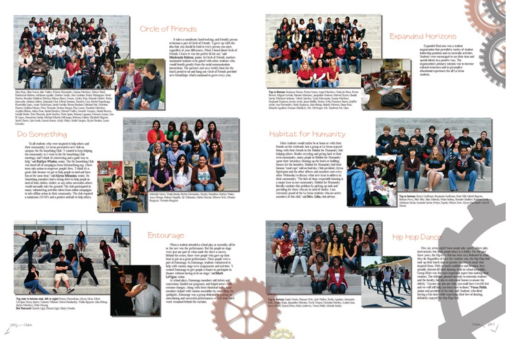 la serna high school yearbook clubs page layouts