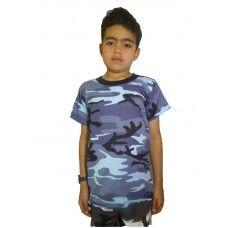 Kids SKY BLUE CAMO T-Shirt