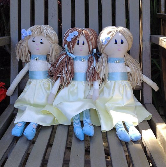 Check out this item in my Etsy shop https://www.etsy.com/uk/listing/462211247/flower-girl-dolls-bridesmaid-dolls