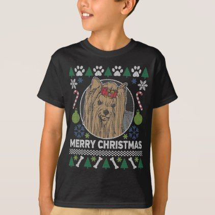 #Yorkie Dog Breed Ugly Christmas Sweater