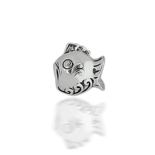 925 Sterling Silver Pisces Zodiac Fish Animal Bead Chamilla Compatible