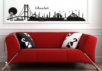 Istanbul Skyline 2 Wall Decal - Beautiful City Vinyl Decor