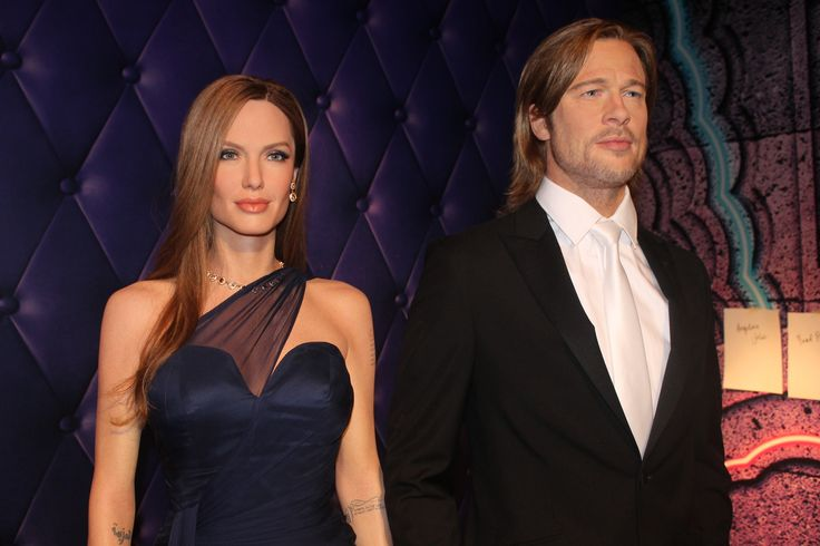 brad and angelina - madame tussauds