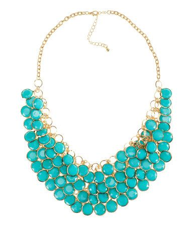 Love the bib of turquoise!  hm.com /LADIES /Accessories/   Necklace $ 14.95