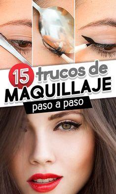 15 Trucos de maquillaje paso a paso. Makeup hacks. Trucos para lograr el delineado de ojos perfecto cateye perfecto
