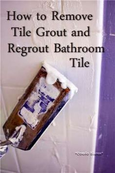 How to remove tile grout and regrout tile #tutorial