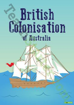 A 50 page resource pack containing a range of posters, worksheets and activities to use in your classroom when teaching a unit of work on the British Colonisation of Australia.This British Colonisation of Australia teaching resource pack includes:* Title Poster* Early Struggles in the New Colony Poster* Word Wall* James Ruse Profile* Governor Arthur Phillip Profile* William Lawson Profile* Gregory Blaxland Profile* William Charles Wentworth Profile* 1846 Colony Expansion Map and Worksheet…
