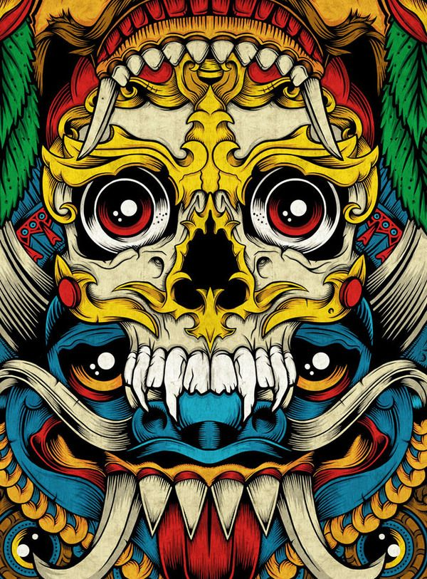 Skate Deck Totem by Pale Horse